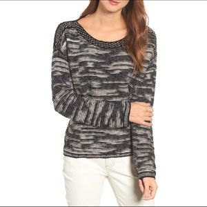 Eileen Fisher Bateau Neck Pullover Sweater Size L
